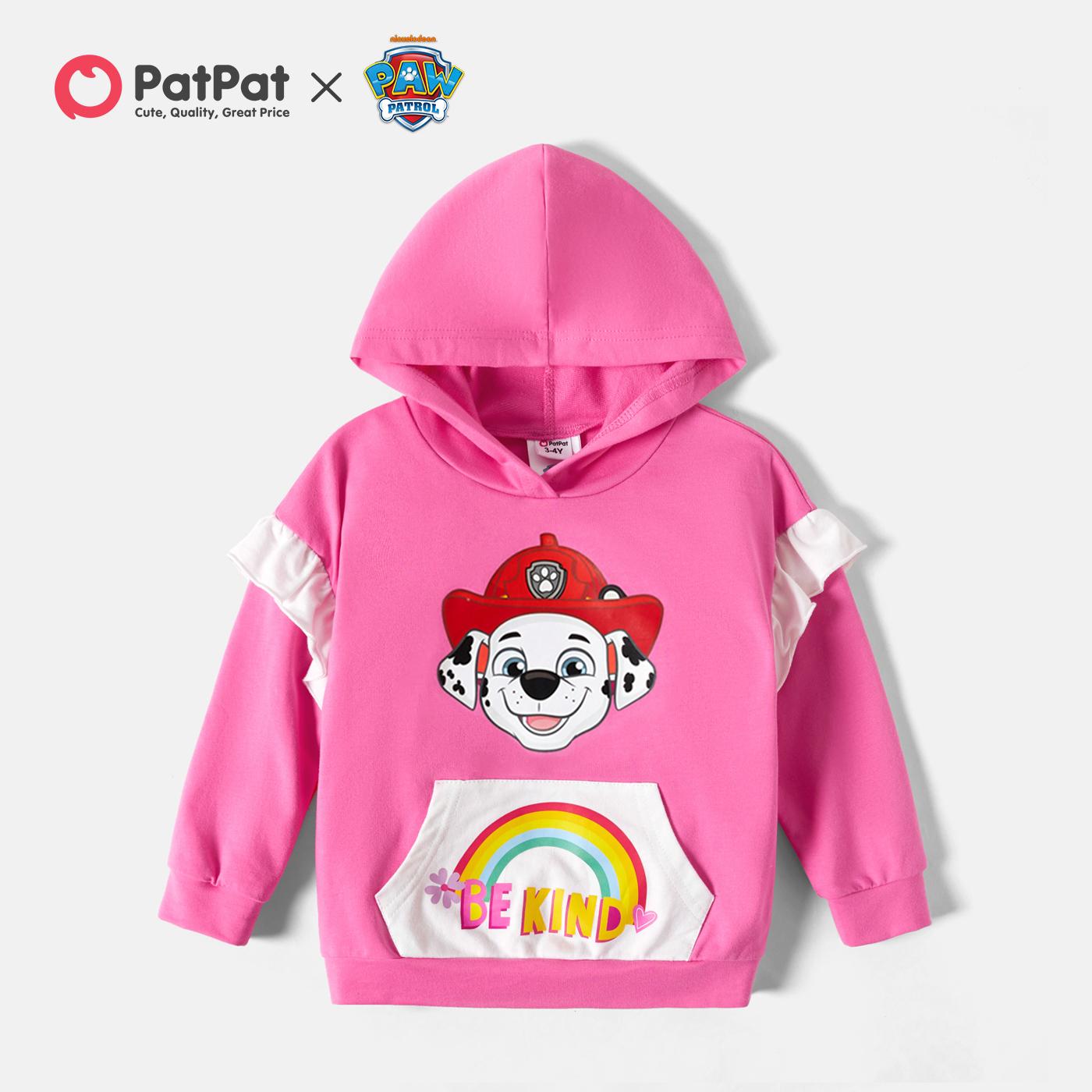 PAW Patrol Toddler Girl Rainbow Cotton Hooded Sweatshirt