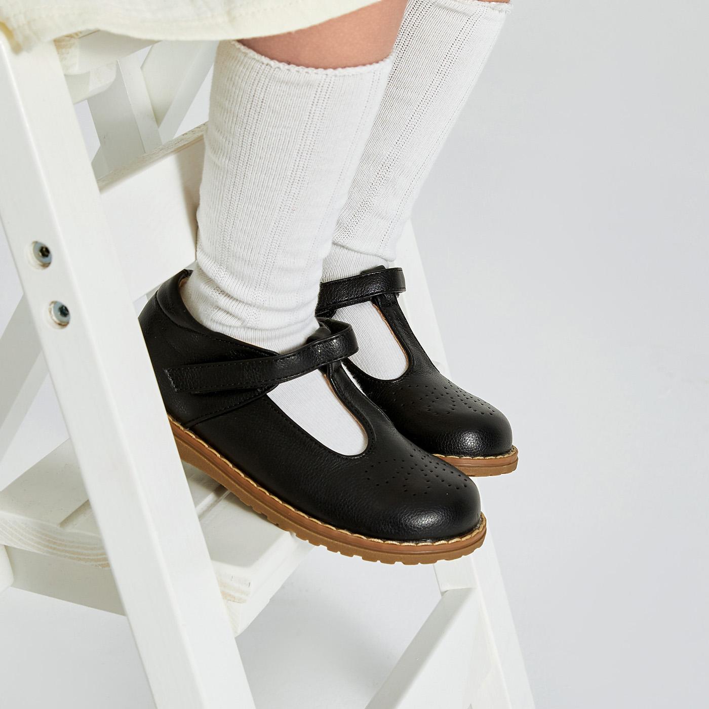 Toddler / Kid Black Print Velcro Classic Shoes